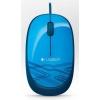 LOGI M105 corded Mouse USB blue